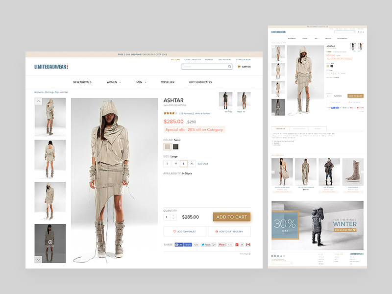 Free E-Commerce Product Page download