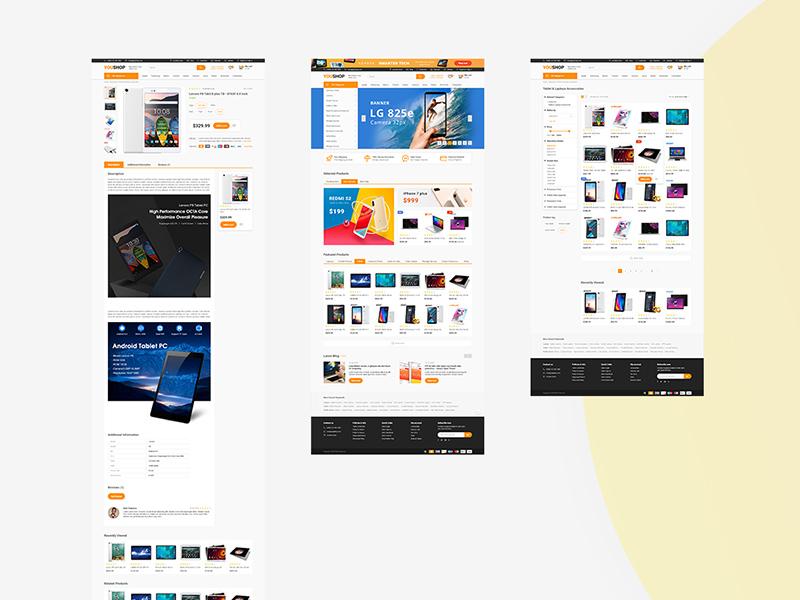 e commerce adobe xd theme template free xd templates
