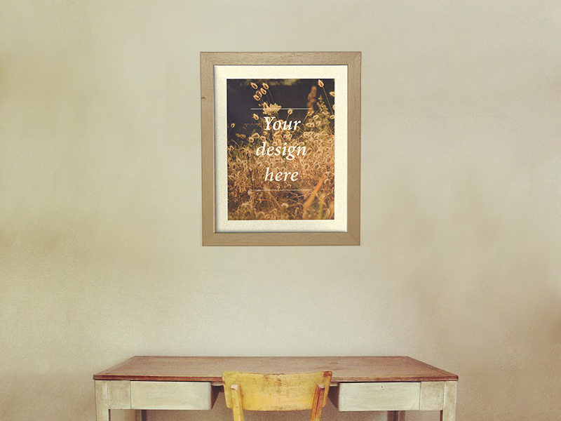 Frame Poster Mockup Freebie - Download Photoshop Resource - PSD Repo