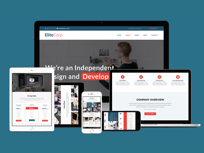 Free EliteCorp Website Template download