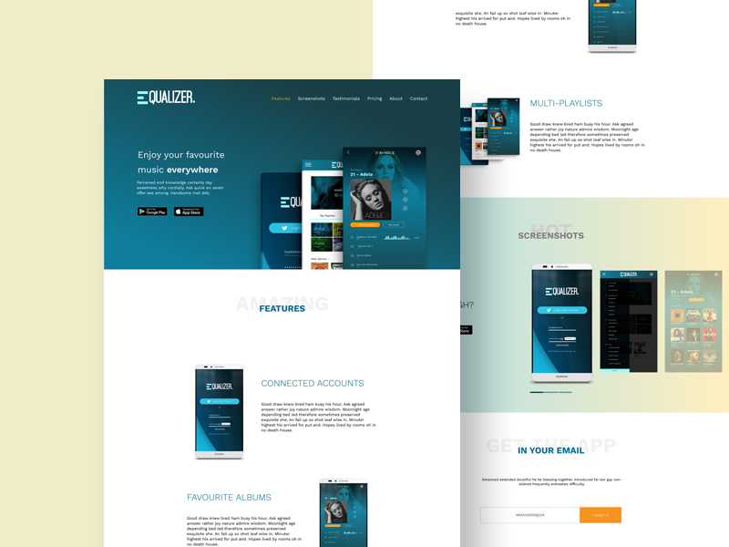 Free Equalizr Landing Page Template download