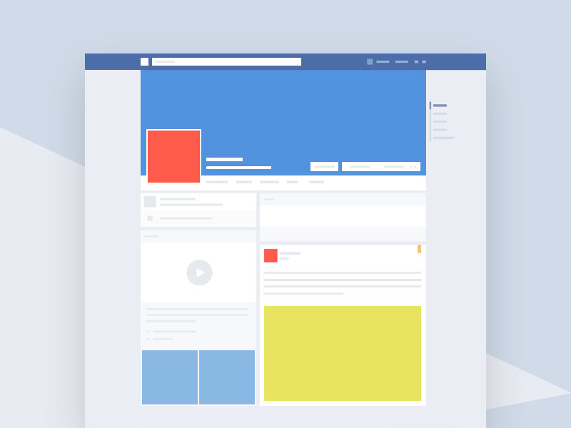 Facebook template mockup freebie download photoshop for Facebook app template psd