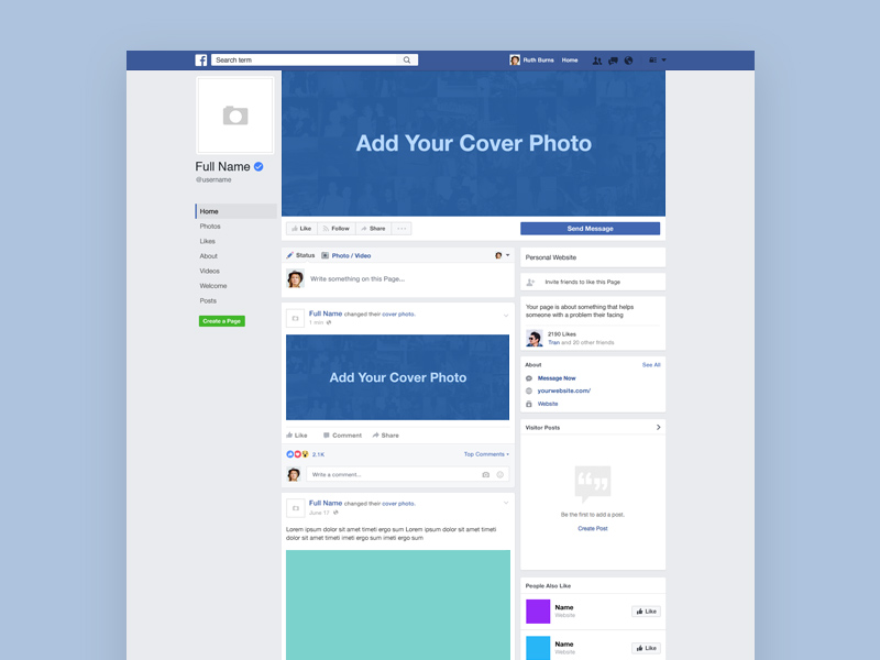 Facebook design template yeniscale facebook design template accmission Choice Image