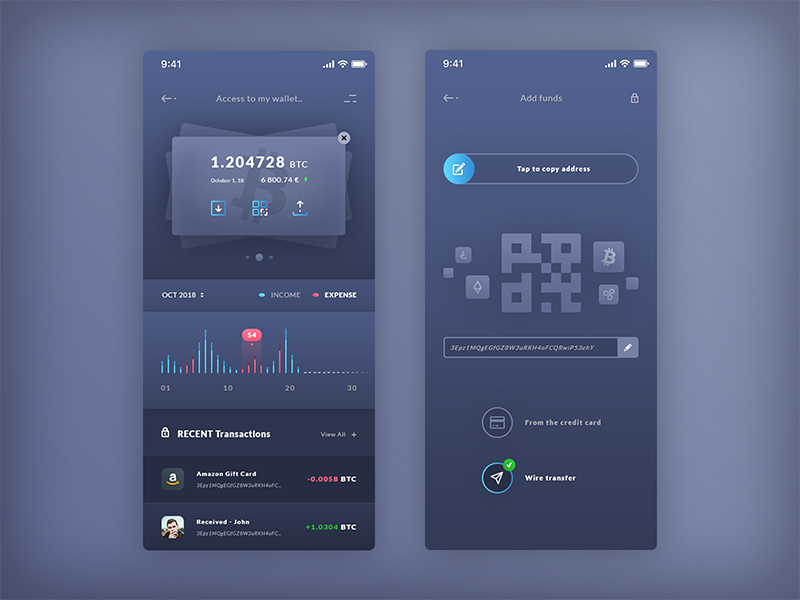 Finance Wallet Add Funds Ios App Template Free Psd Template