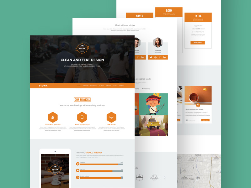 Fiona one page template freebie download photoshop for One page brochure template free