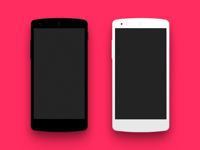 flat android nexus phone mockup - Mockups For Android