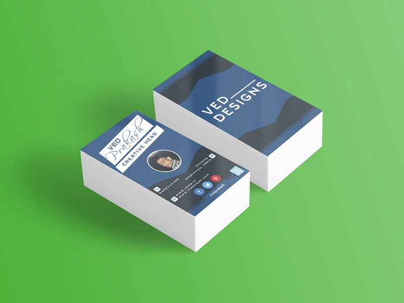 Flat business card mockup freebie download photoshop resource flat business card mockup reheart Images