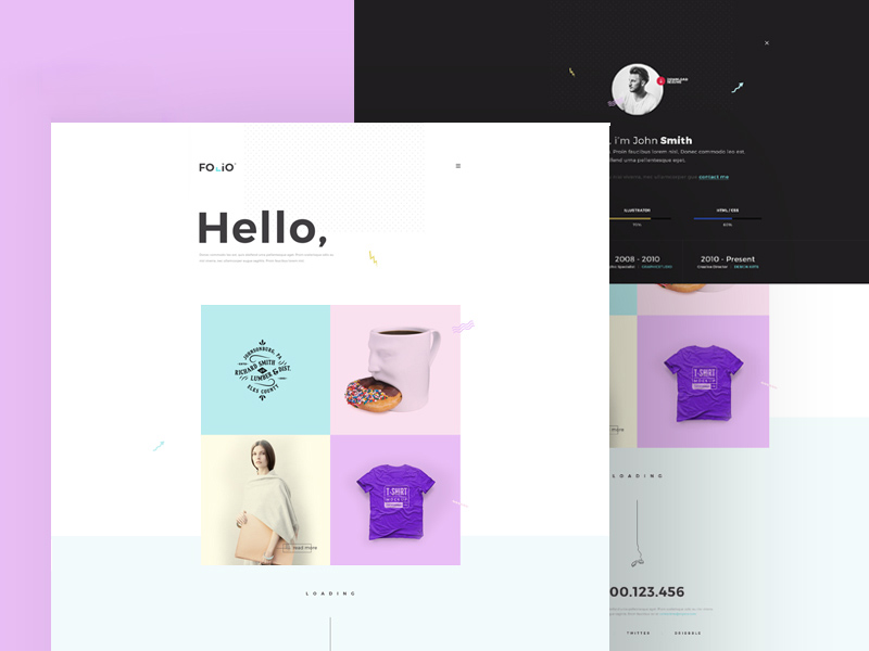 Free Folio Website Template download
