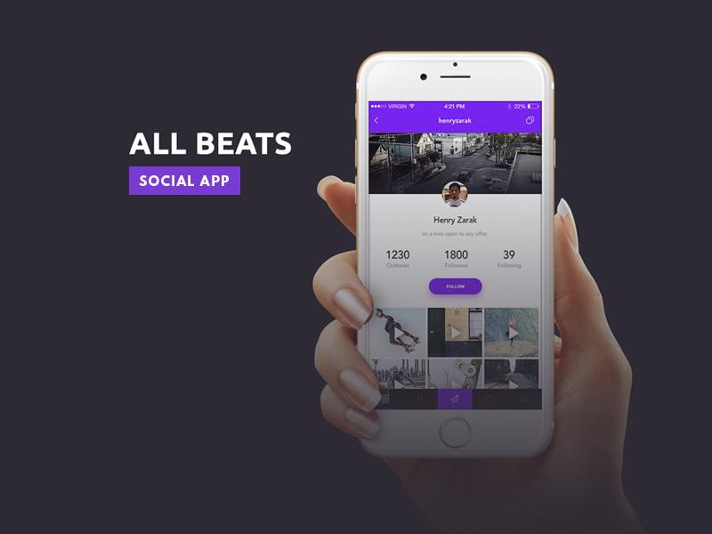 all beats ios social app freebie download photoshop resource psd repo. Black Bedroom Furniture Sets. Home Design Ideas