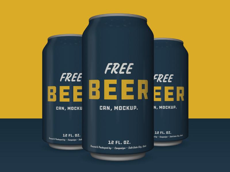 Free Beer Can Mockup download
