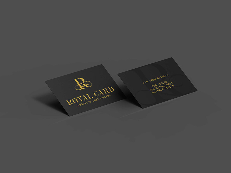 Black Business Card Mockups Freebie - Download Photoshop Resource ...