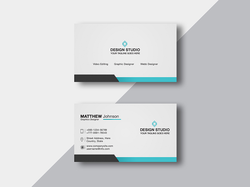 Business Card Design Templates Free Psd Template Psd Repo