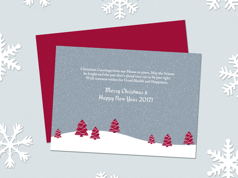 Christmas Card Freebie - Download Photoshop Resource - PSD Repo