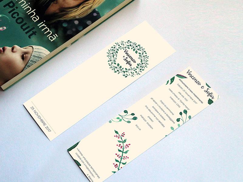 Wedding Bookmark Template Freebie - Download Photoshop Resource ...