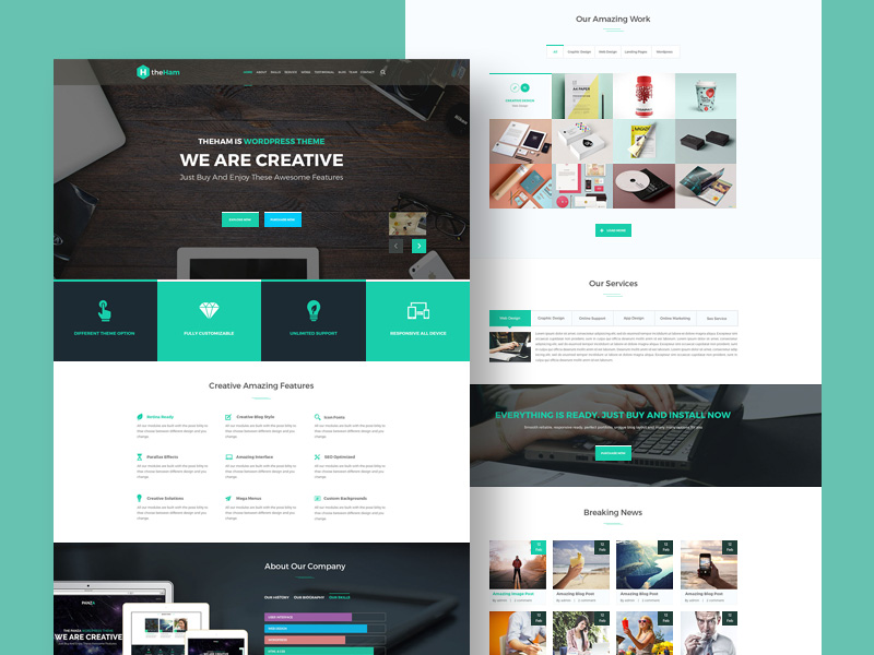 Creative Landing Page Template Freebie Download Photoshop Resource - About page template
