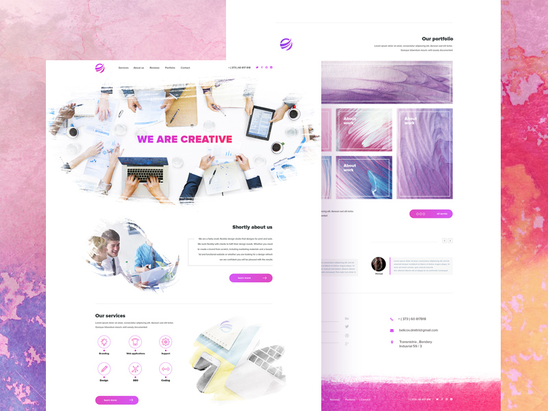 Free Creative Watercolor Inspiration Template download