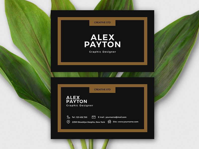 Minimalistic Business Card Template Freebie - Download Photoshop ...