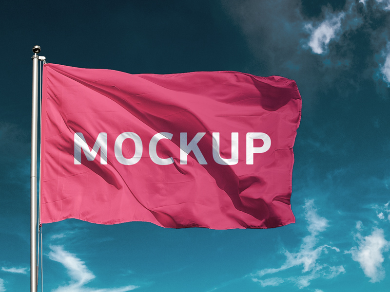 Free Flag Mockup Freebie Download Photoshop Resource