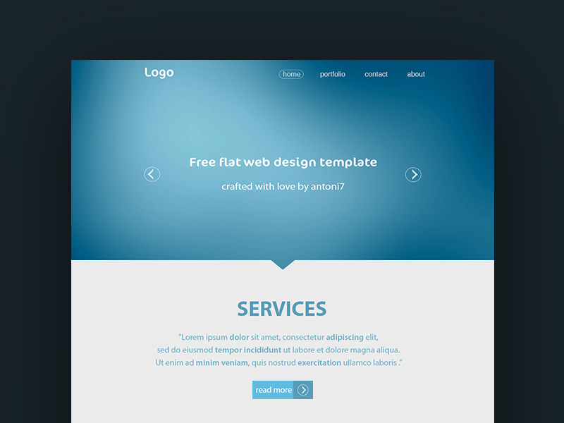 Simple website template freebie download photoshop for Simple html templates free