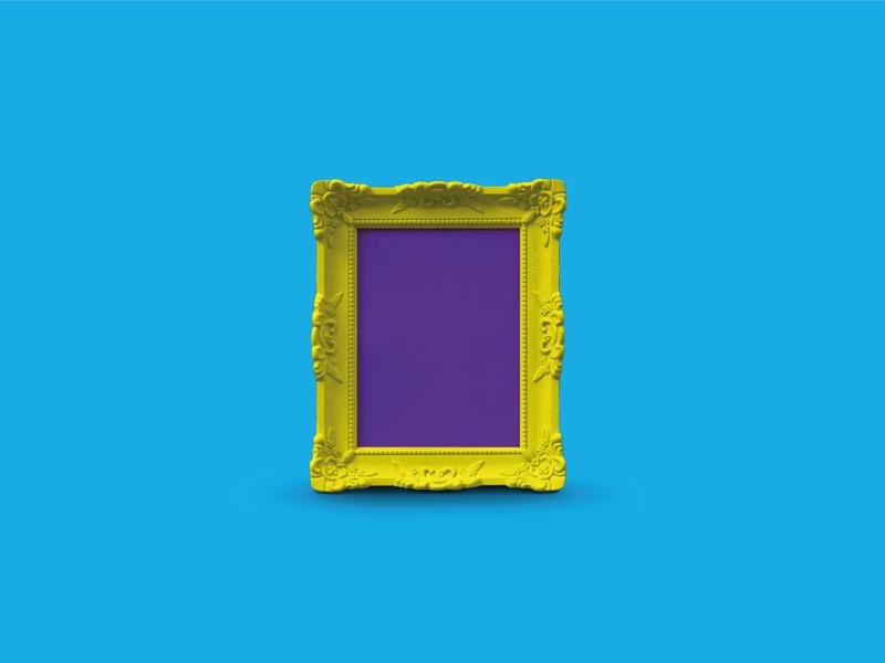 Free Vibrant Frame Mockup download