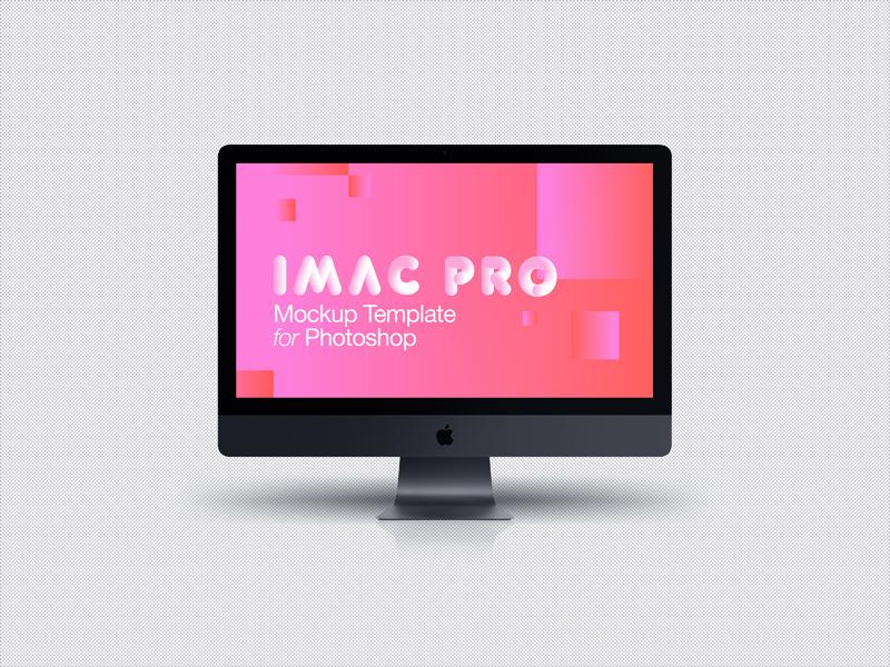 imac pro 2017 dark grey front mockup free psd template psd repo