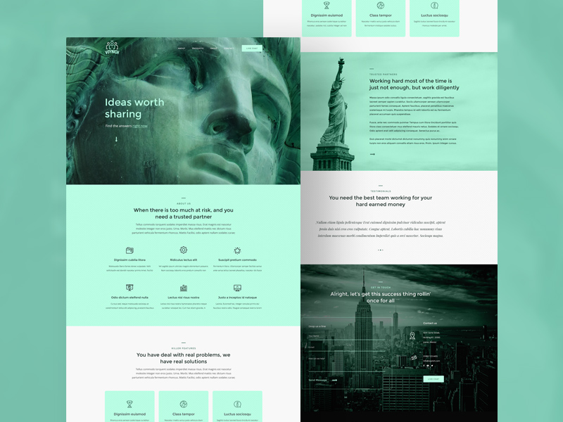 Free Voynich Landing Page Template download