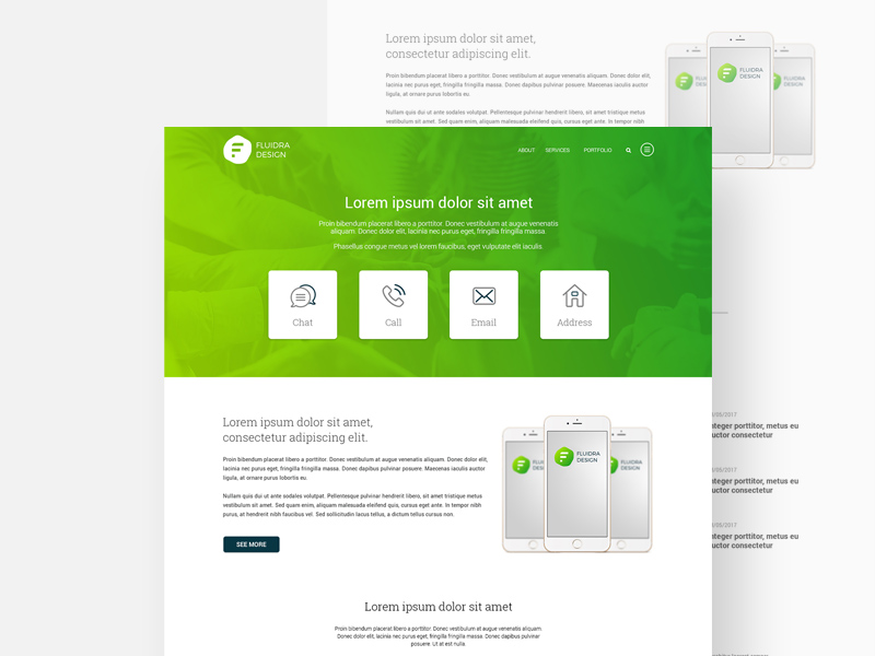 Multipurpose Website Template Freebie - Download Photoshop Resource ...