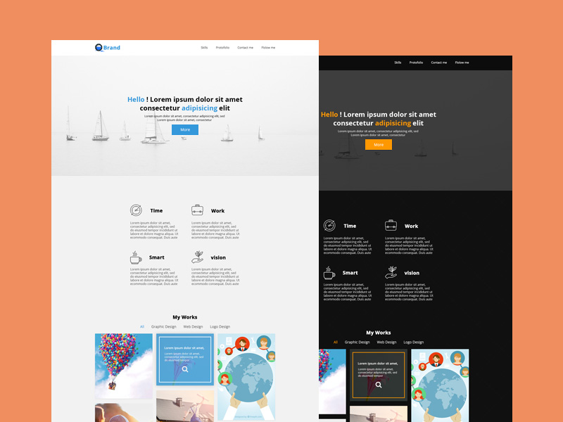 Portfolio templates freebie download photoshop resource psd repo portfolio templates maxwellsz