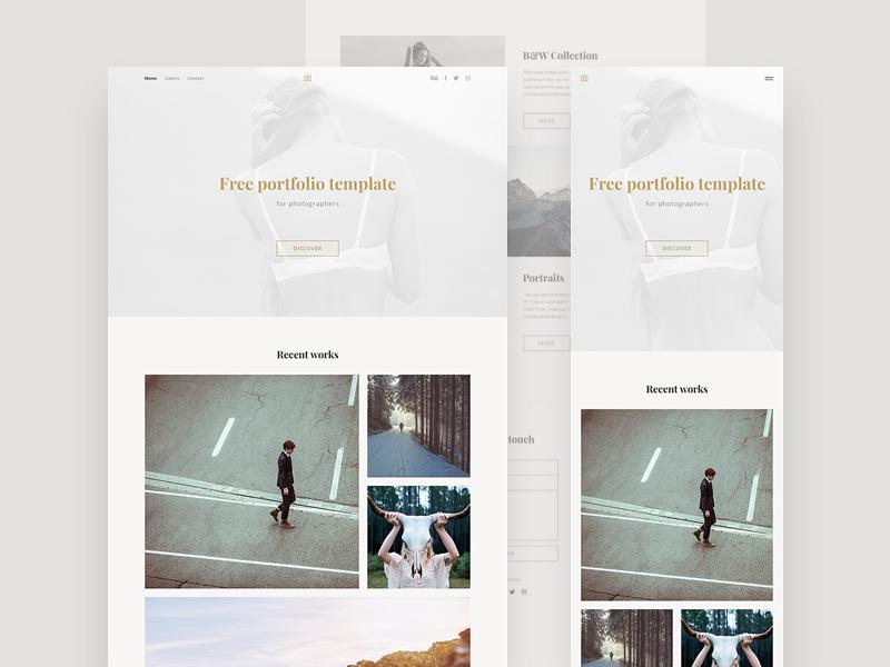 Photography Portfolio Template Freebie - Download Photoshop Resource ...