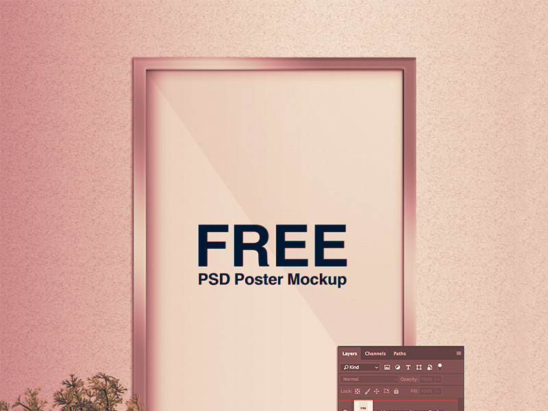 free poster mockup freebie download photoshop resource psd repo