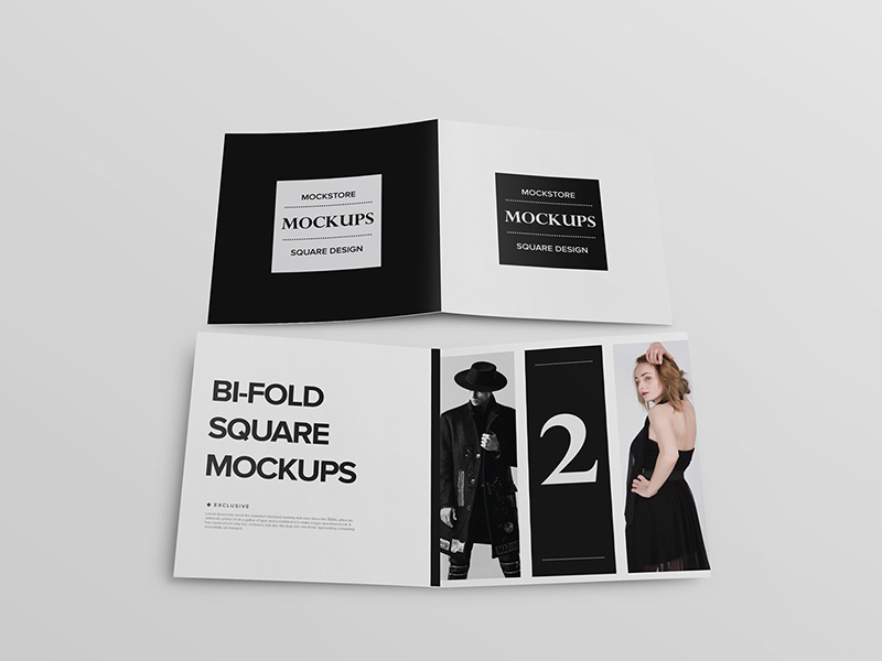 bi fold brochure mockup freebie download photoshop resource psd repo