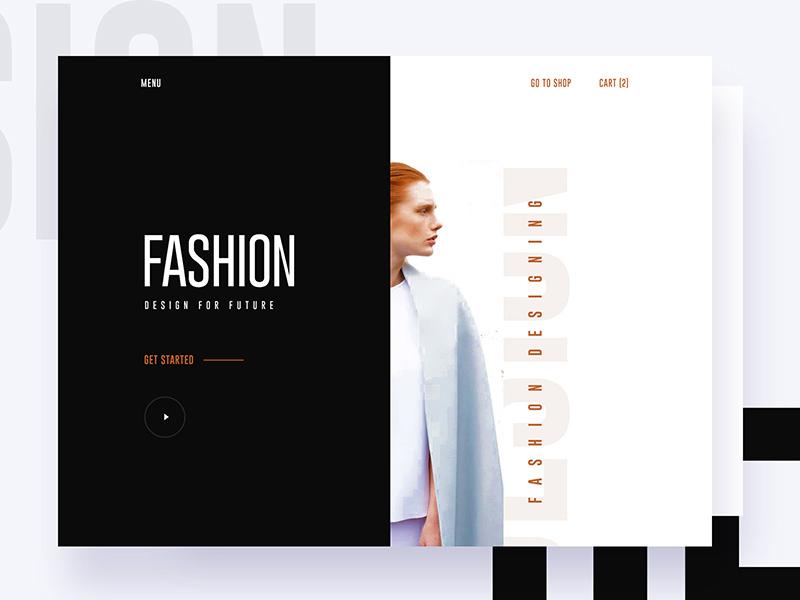 Fashion Design Website Template Freebie - Download Photoshop ...