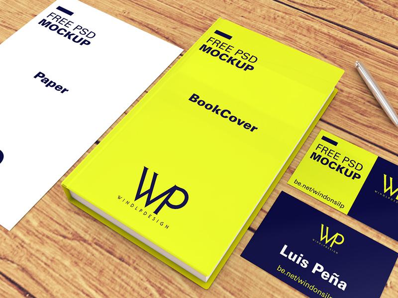 Free Book, Cards & Paper Mockups download