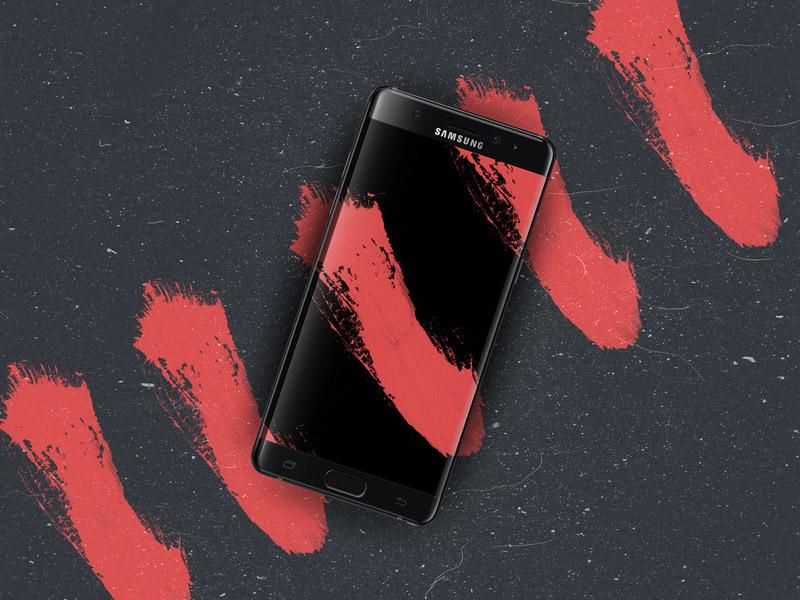 Samsung Note 7 Edge Mockup