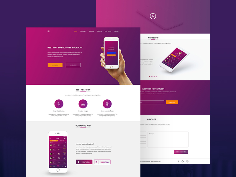 money exchange app landing page design free psd template psd repo