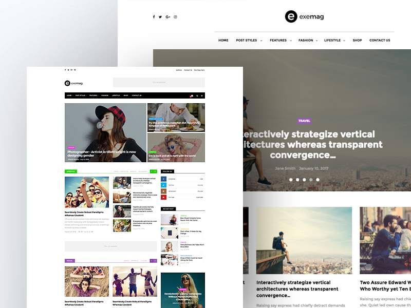 Exemag - Multiconcept Blog & Magazine WordPress Theme Template ...