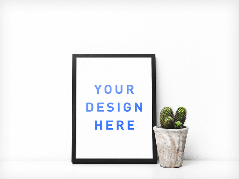 Poster Frame Mockup Freebie - Download Photoshop Resource - PSD Repo