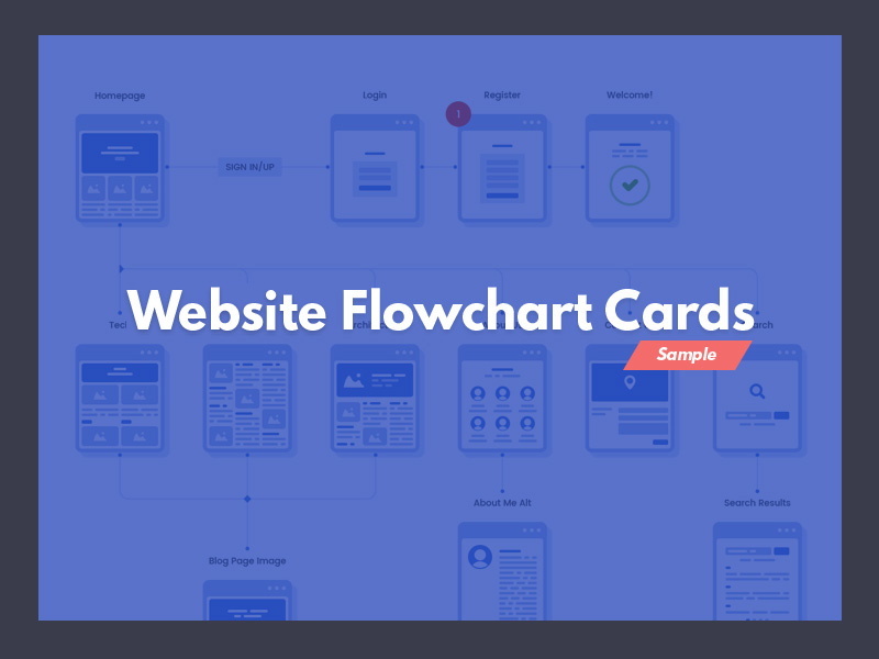 Website Flowchart Cards Freebie Download Photoshop Resource Psd Repo