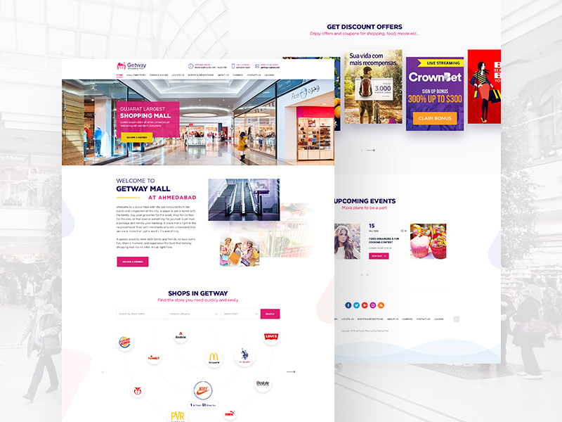 Shopping Mall Landing Page Website Template Freebie - Download ...
