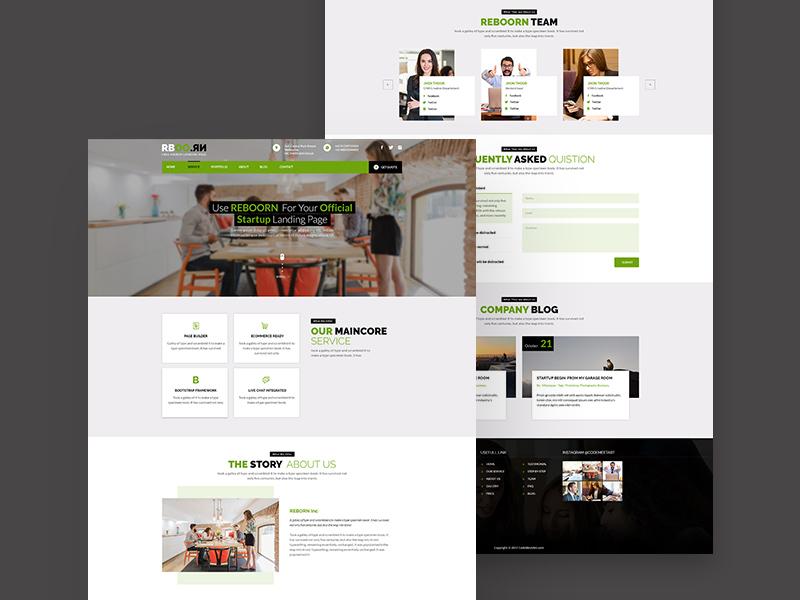 Free Start UP Reborn Website Template download