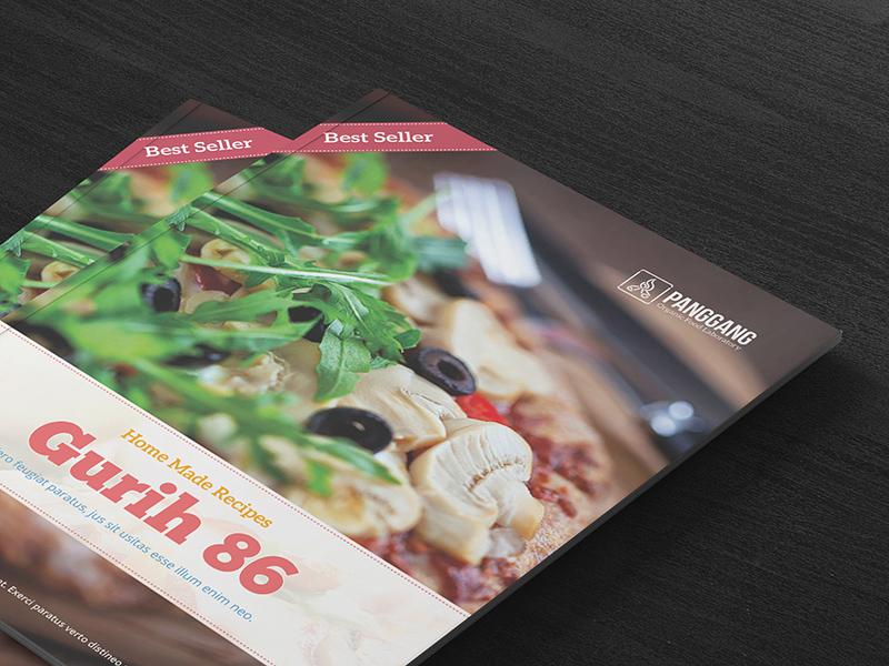 Recipe Book Template Freebie - Download Photoshop Resource - PSD Repo