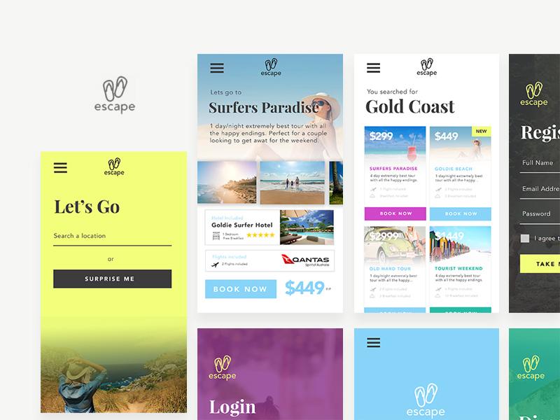 Free Travel App UI Concept Screens download