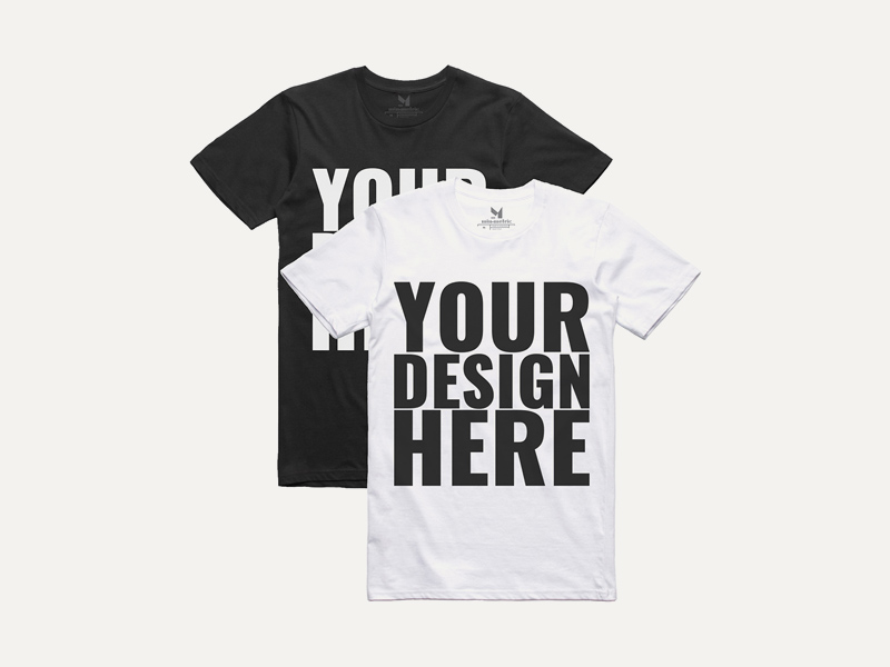 Realistic Black Amp White T Shirt Mockups Freebie Download