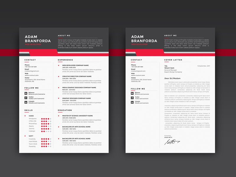 Free Resume Mockup download