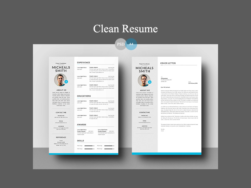resume template for word photoshop - Photoshop Resume Template