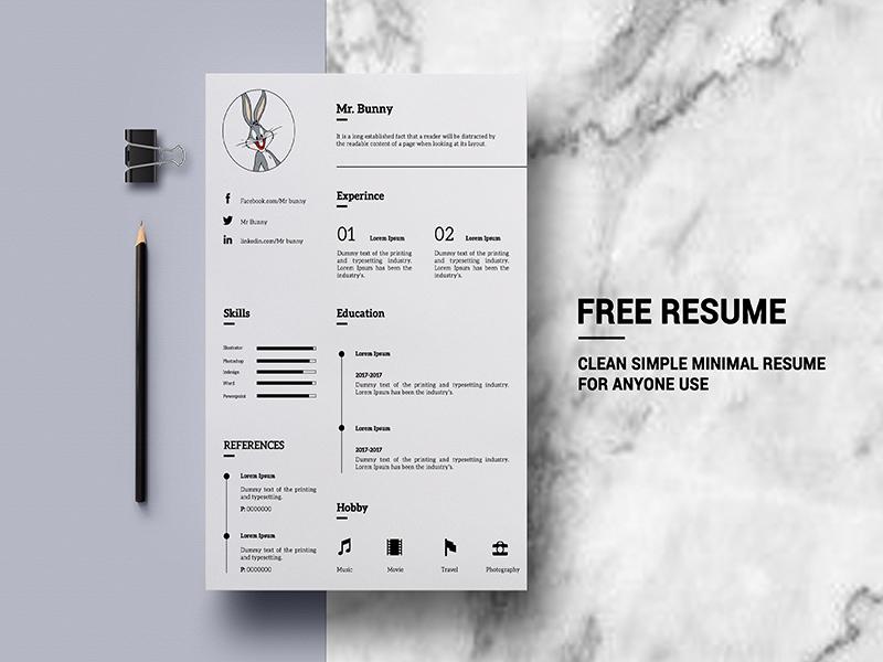 free minimalistic resume template - Free Minimalist Resume Template