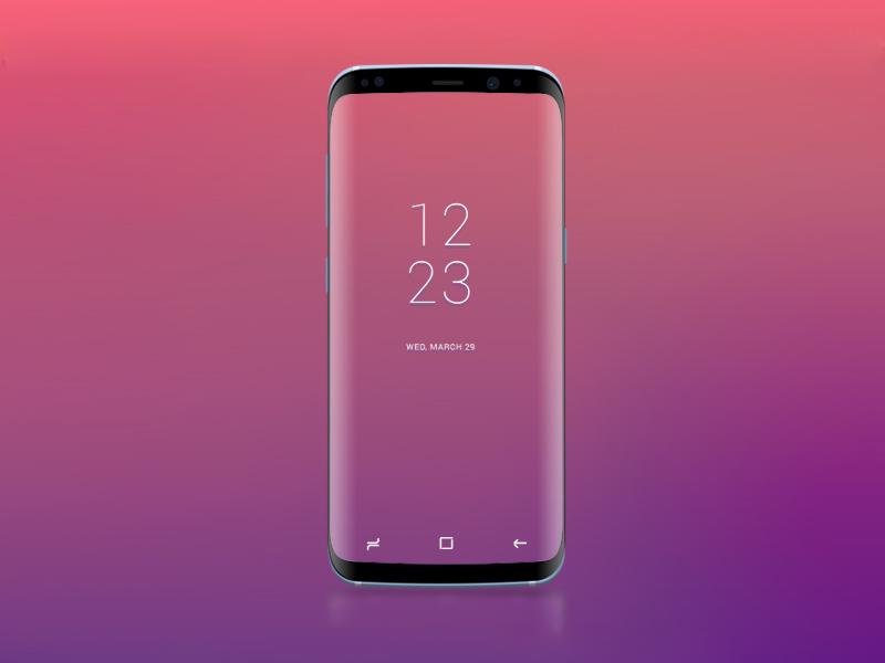 Free Samsung Galaxy S8 PSD Mockup download
