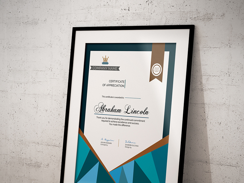 Simple Certificate Template Freebie  Download Photoshop Resource