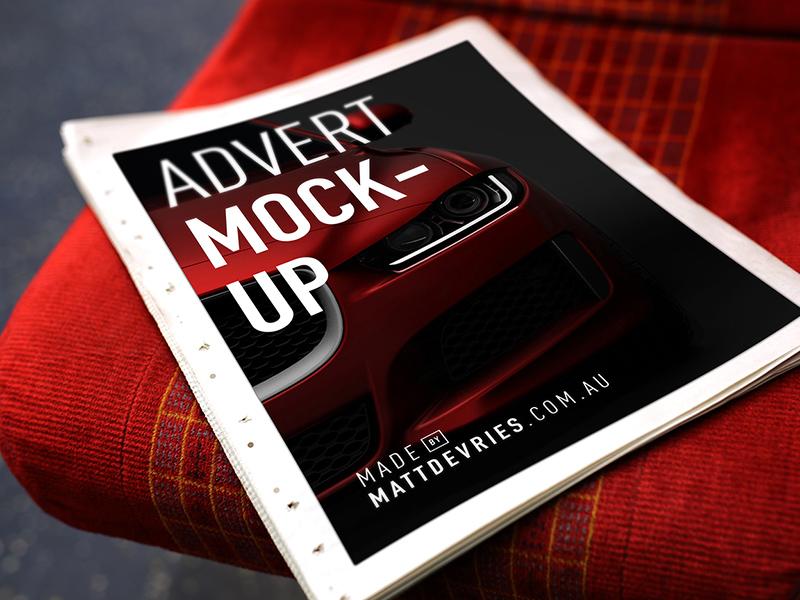 Smart Newspaper Advertising Mockup Freebie Download Photoshop