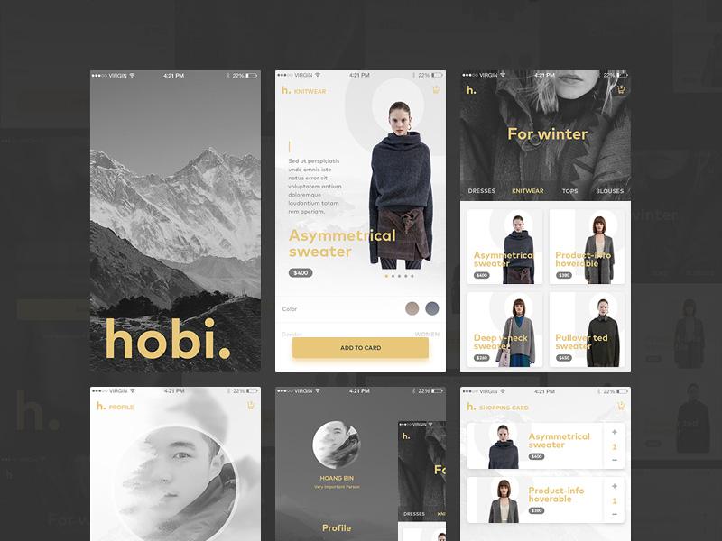 Mobile Fashion Ecommerce Ui Kit Free Psd Template Psd Repo
